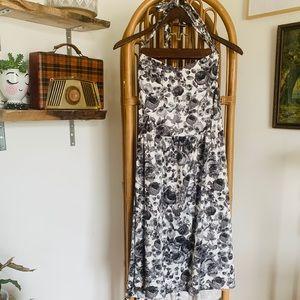 Torrid Retro Pinup Floral Halter Dress